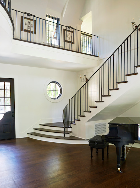 French Normandy Indian Springs Home Classic style corridor, hallway and stairs by Christopher Architecture & Interiors Classic