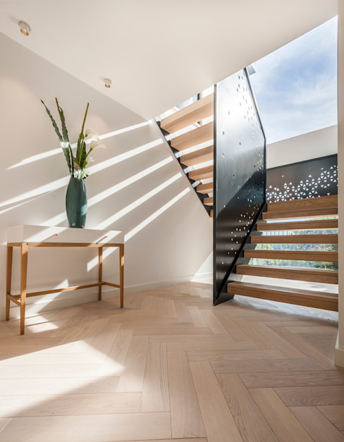 Wick Lane, Christchurch By Jigsaw Interior Design Modern Corridor, Hallway and Staircase by Jigsaw Interior Architecture Modern Metal