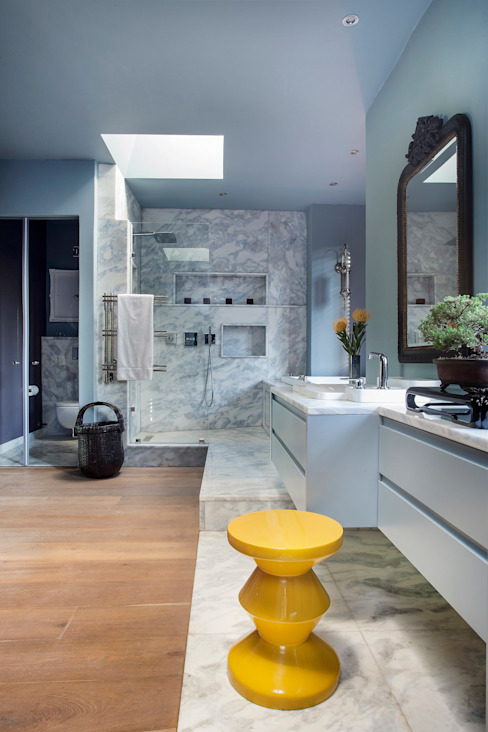 Master Bathroom Wet Area Eclectic style hotels by W Cubed Interior Design Eclectic