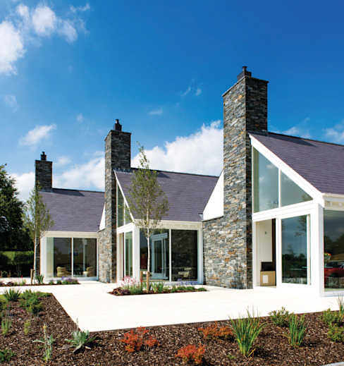 Modern house in Dromore Co Antrim Casas estilo moderno: ideas, arquitectura e imágenes de Jane D Burnside Architects Moderno