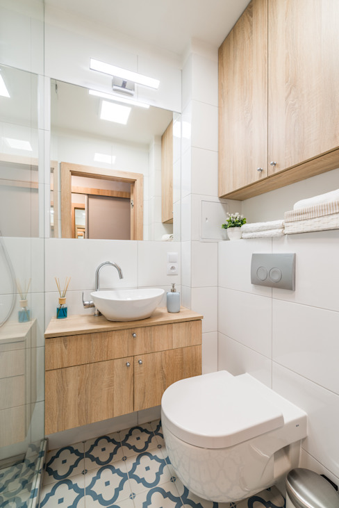 Salle de bain scandinave par jw architektura Scandinave