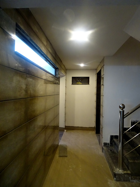 The Big 99 Modern corridor, hallway & stairs by INXUS Constructions Modern