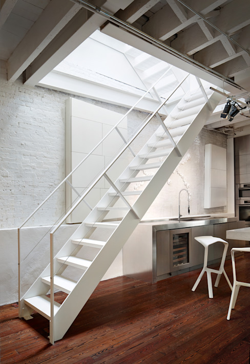Soho Penthouse Modern Corridor, Hallway and Staircase by SA-DA Architecture Modern