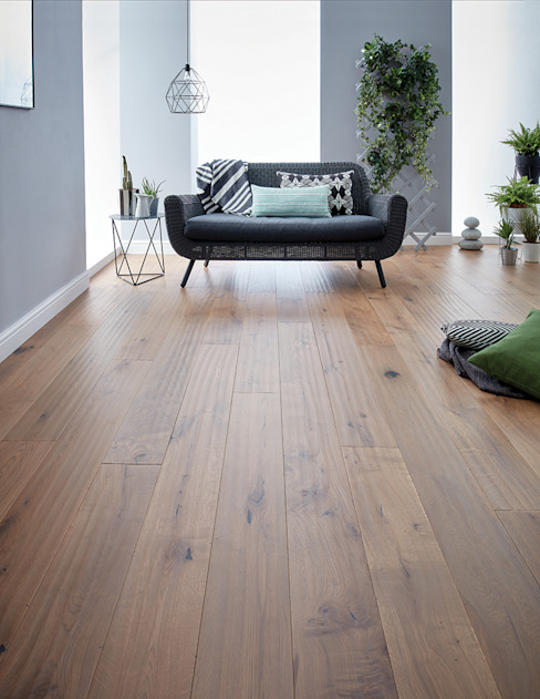Berkeley Washed Oak Rustikale Wände & Böden von Woodpecker Flooring Rustikal Holzwerkstoff Transparent