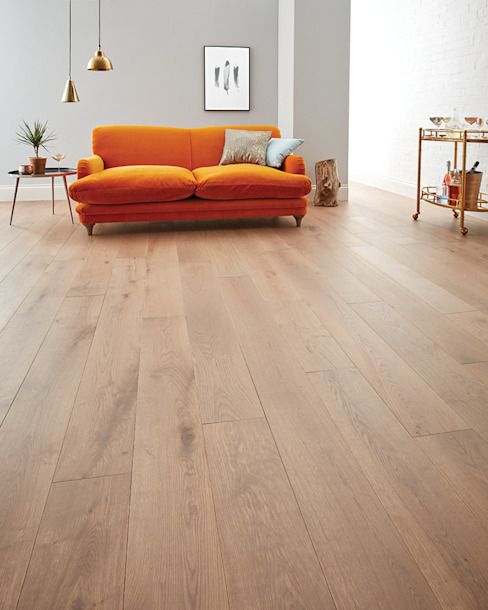 Chepstow Planed Grey Oak Modern Walls and Floors by Woodpecker Flooring Modern Engineered Wood Transparent