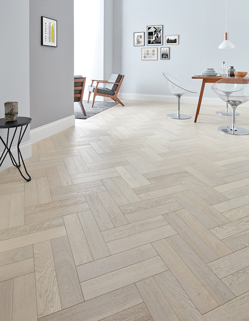 Goodrich Whitened Oak Modern Walls and Floors by Woodpecker Flooring Modern Engineered Wood Transparent
