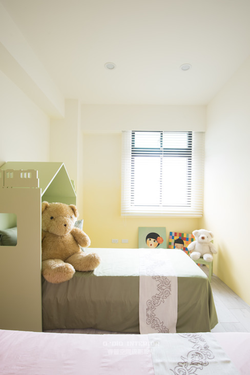 homify Nursery/kid's roomBeds & cribs Green