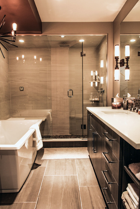 Basement bathroom Industrial style bathrooms by Unit 7 Architecture Industrial