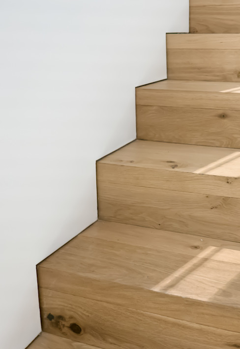 Just Stairs:  Corridor & hallway by Sensearchitects Limited, Modern Wood Wood effect