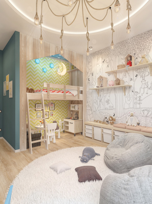 Cuartos infantiles de estilo minimalista de Мастерская дизайна Welcome Studio Minimalista