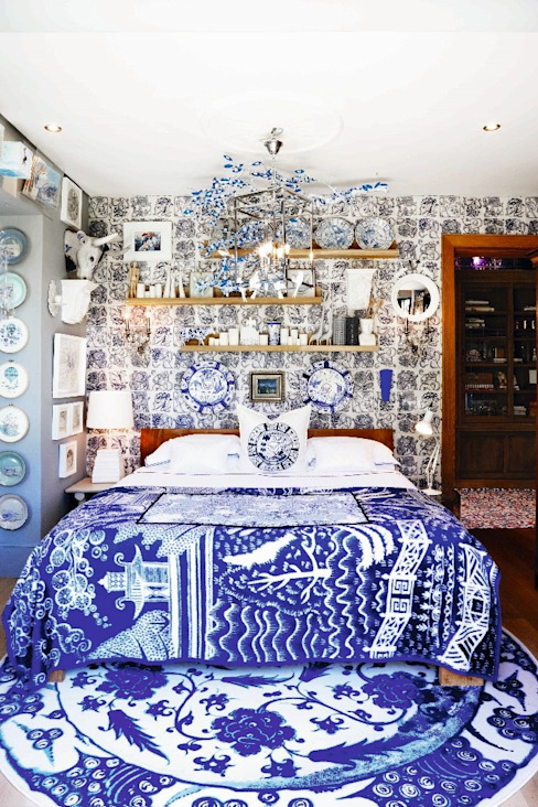 Bedroom by The Painted Door Design Company, Eclectic