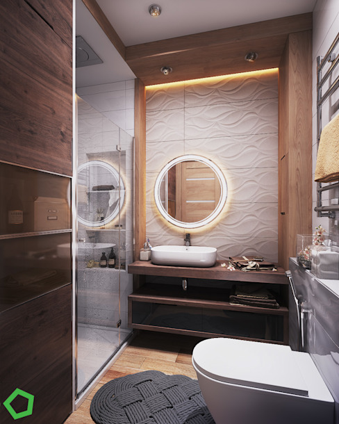 Bathroom Scandinavian style bathroom by Polygon arch&des Scandinavian Tiles