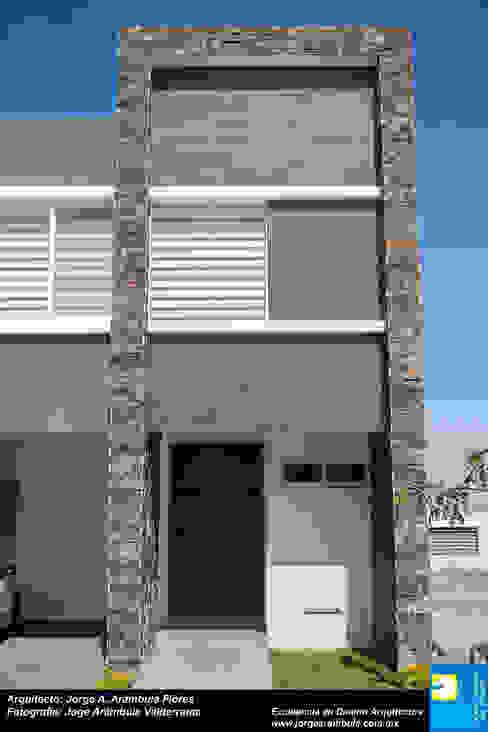 FACHADA Casas de estilo minimalista de Excelencia en Diseño Minimalista Piedra