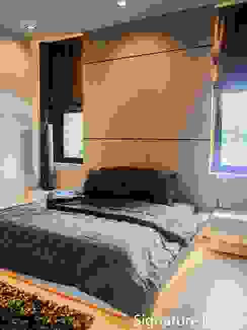 ห้องนอน 2 โดย SignatureDesign ผสมผสาน ไม้ Wood effect