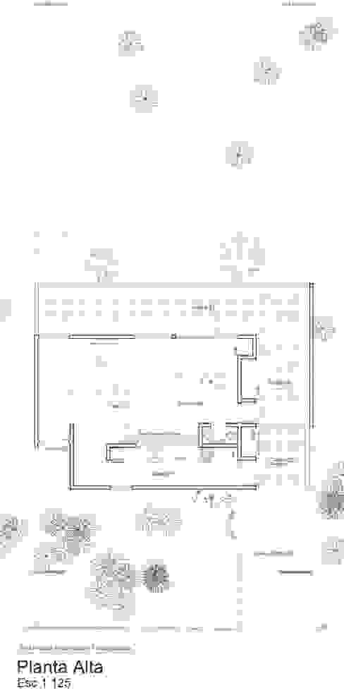 Planta Alta, sobre loma. de 1.61 Arquitectos Minimalista