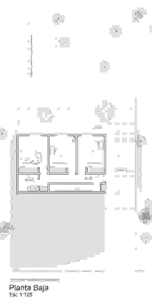 Planta Baja semienterrada de 1.61 Arquitectos Minimalista