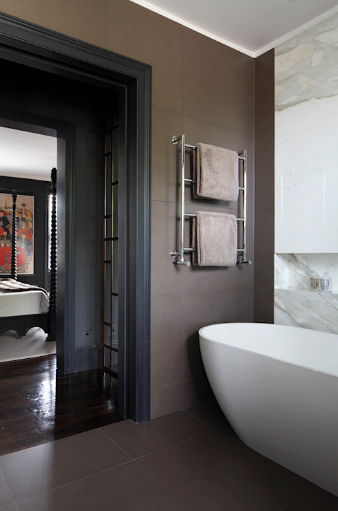 Bathroom MN Design Modern bathroom Marble Brown