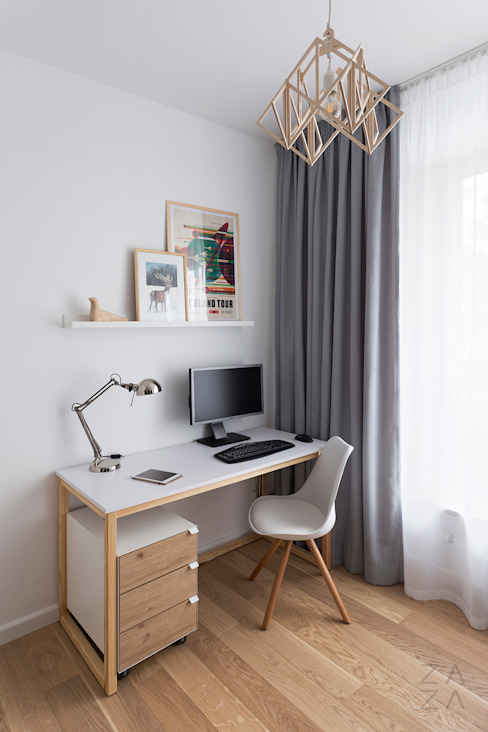 Scandinavian style study/office by ZAZA studio Scandinavian
