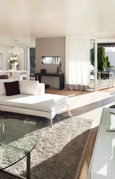 Clean Neutral Living Area by Gracious Luxury Interiors Classic