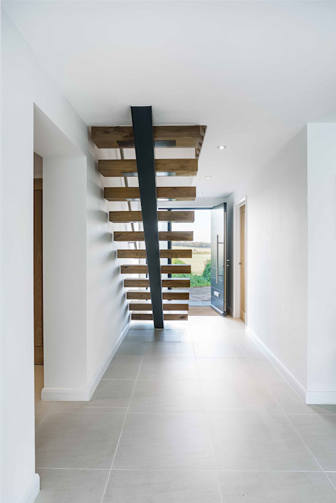 The Beckett House Modern corridor, hallway & stairs by Adam Knibb Architects Modern