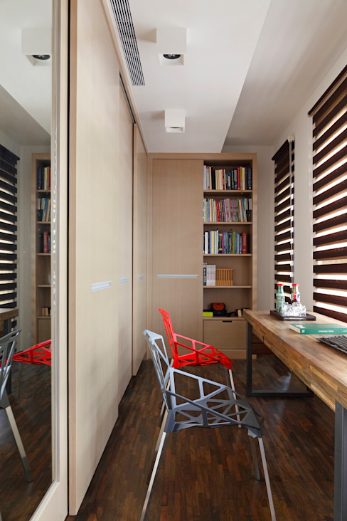 Estudios y bibliotecas de estilo minimalista de 光島室內設計 Minimalista