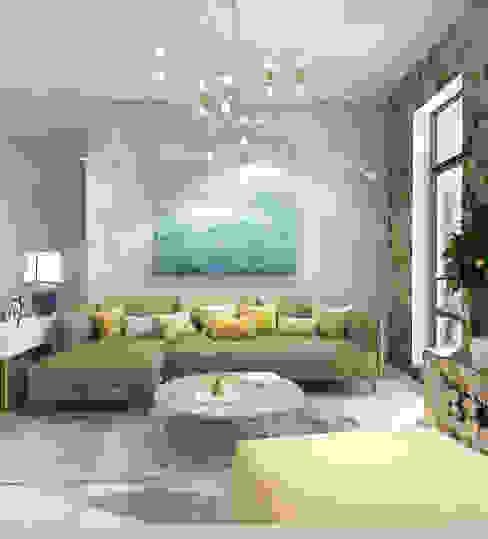 Phòng khách phong cách Địa Trung Hải bởi Tanya Andreeva Địa Trung Hải Cục đá