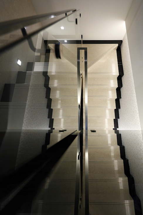 時尚精品宅 現代風玄關、走廊與階梯 根據 大荷室內裝修設計工程有限公司 現代風