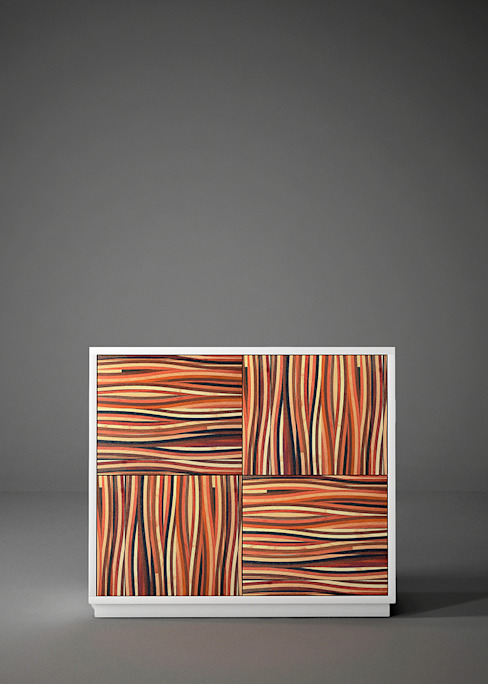 """Credenza alta dal design moderno """" MULTIESSENZA"""" di Ferrantelli Falegnameria Artigiani del Legno Moderno Legno Effetto legno"""