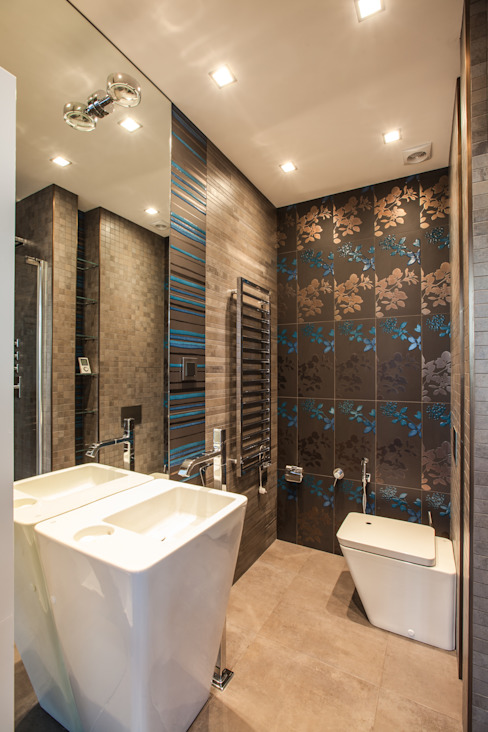 Salle de bain minimaliste par Технологии дизайна Minimaliste Céramique