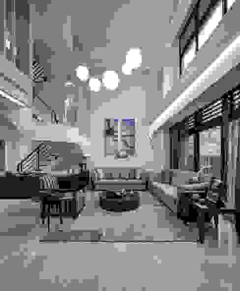 三代同堂度假別墅 Modern Living Room by 大荷室內裝修設計工程有限公司 Modern