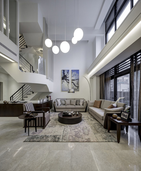 Salas de estilo moderno de 大荷室內裝修設計工程有限公司 Moderno