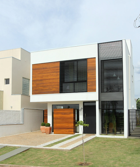 Modern houses by Taguá Arquitetura Modern Wood Wood effect