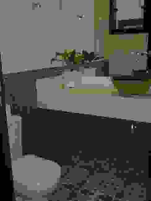Lavabo Monica Guerra Arquitetura e Interiores Banheiros campestres