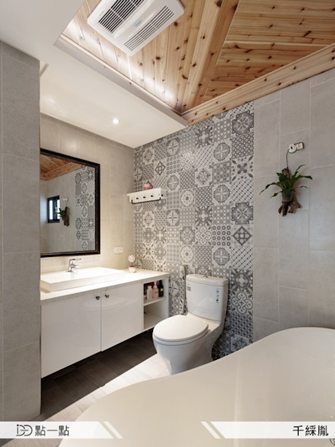 千綵胤空間設計 homify Country style bathroom