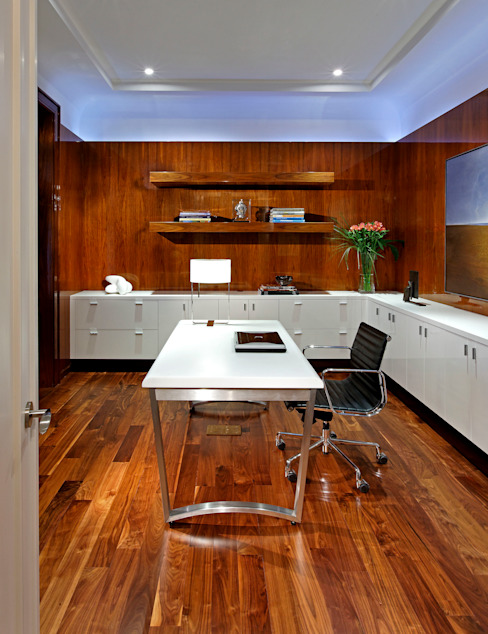 Office Modern Study Room and Home Office by Douglas Design Studio Modern
