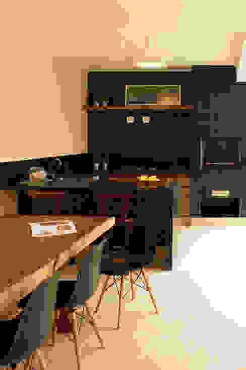 Varanda gourmet RAWI Arquitetura + Design Cozinhas modernas