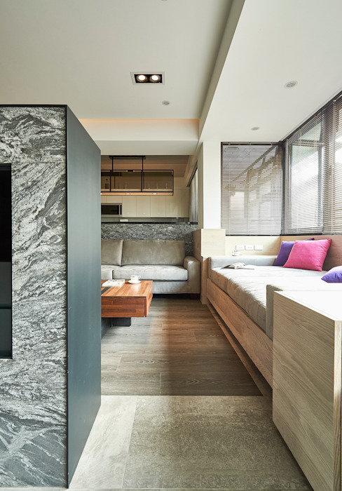 Living room by 青瓷設計工程有限公司,