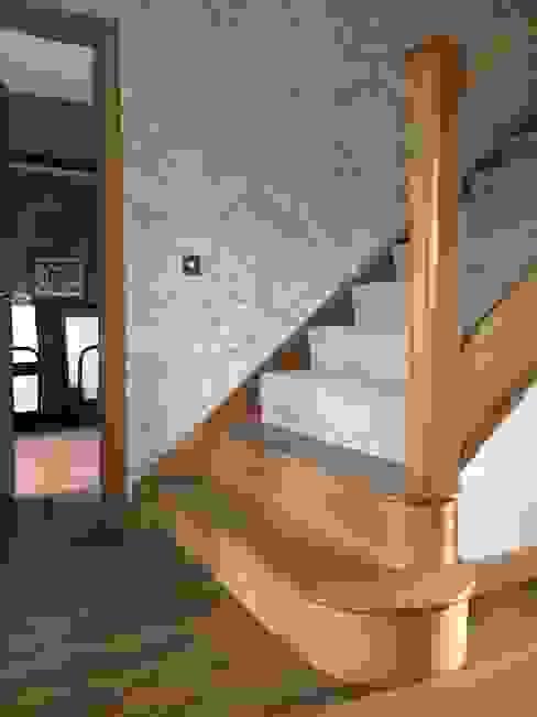 Plot 2 Durward Gardens, Kincardine O'neil, Aberdeenshire Roundhouse Architecture Ltd Modern corridor, hallway & stairs