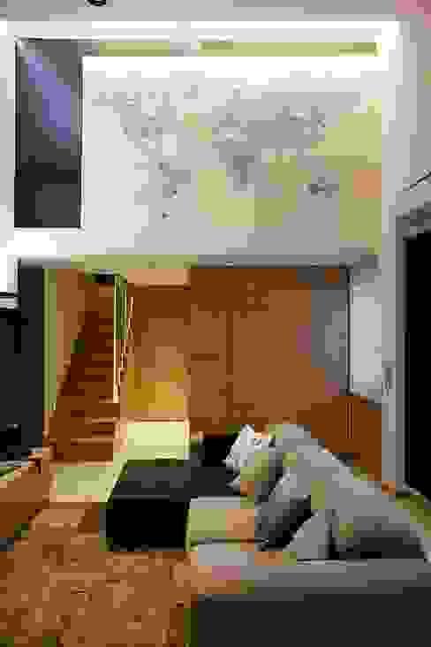 Area Living Studio Vesce Architettura Soggiorno moderno Legno