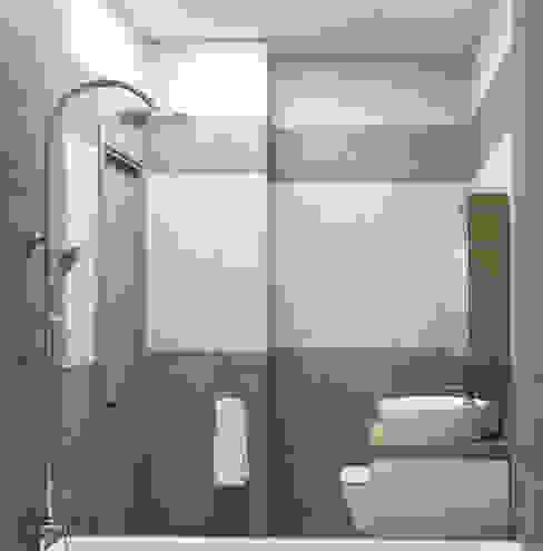 Yana Ikrina Design Eklektik Banyo Mozaik Bej