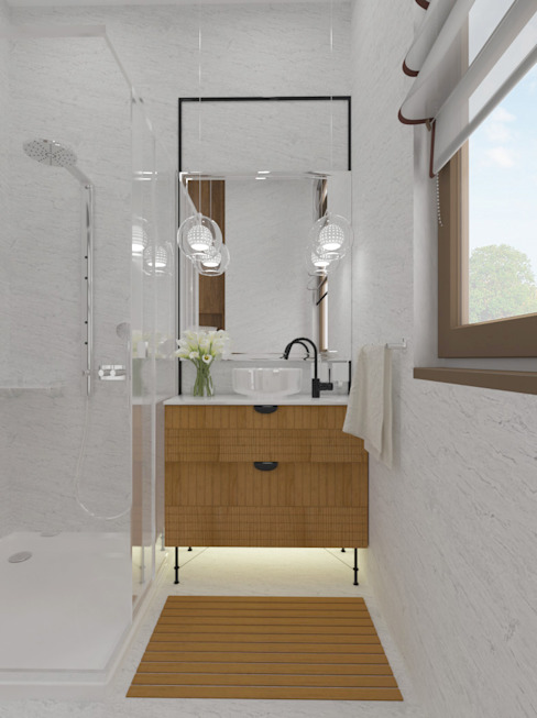 Modern bathroom by homify Modern Stone