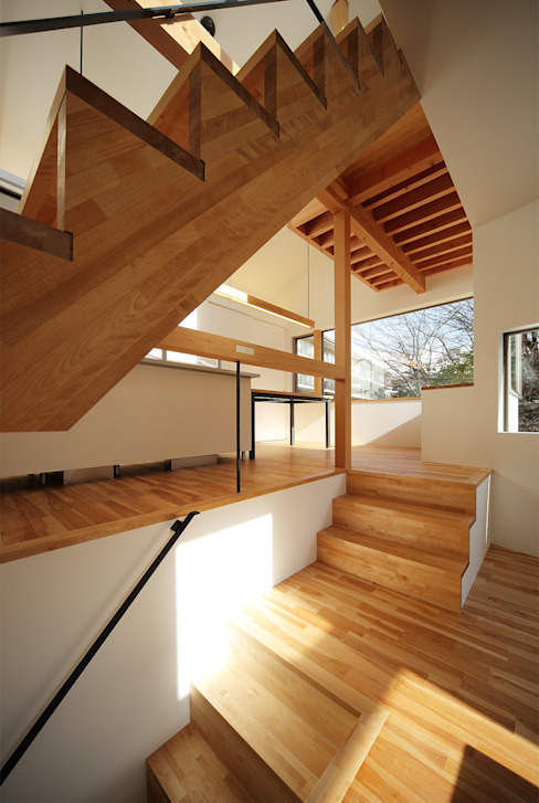 haus-gap 北欧スタイルの 玄関&廊下&階段 の 一級建築士事務所haus 北欧 木 木目調