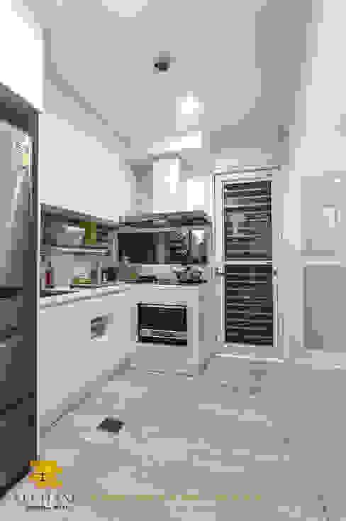 廚房 Rustic style kitchen by 垼程建築師事務所/浮見月設計工程有限公司 Rustic