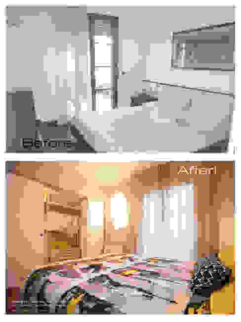 La camera da letto: prima e dopo di Rachele Biancalani Studio Moderno
