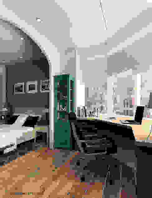 Mediterranean style study/office by IvE-Interior Mediterranean