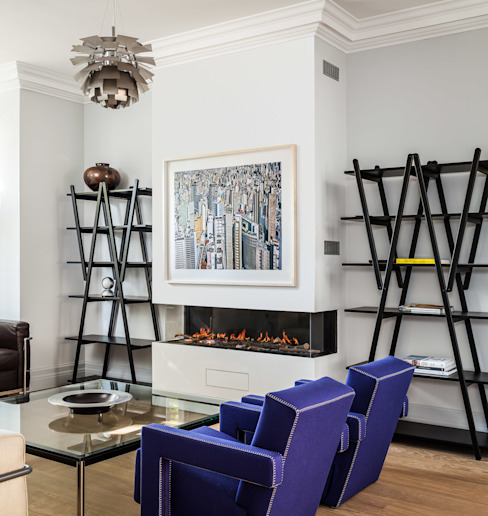 Chiswick House, London W14 Modern living room by AU Architects Modern