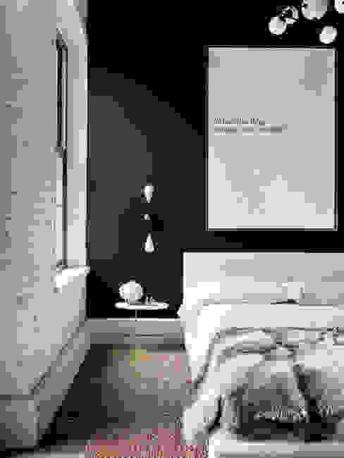 北欧スタイルの 寝室 の Evinin Ustası 北欧