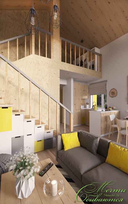 Pasillos, vestíbulos y escaleras de estilo rural de Компания архитекторов Латышевых 'Мечты сбываются' Rural