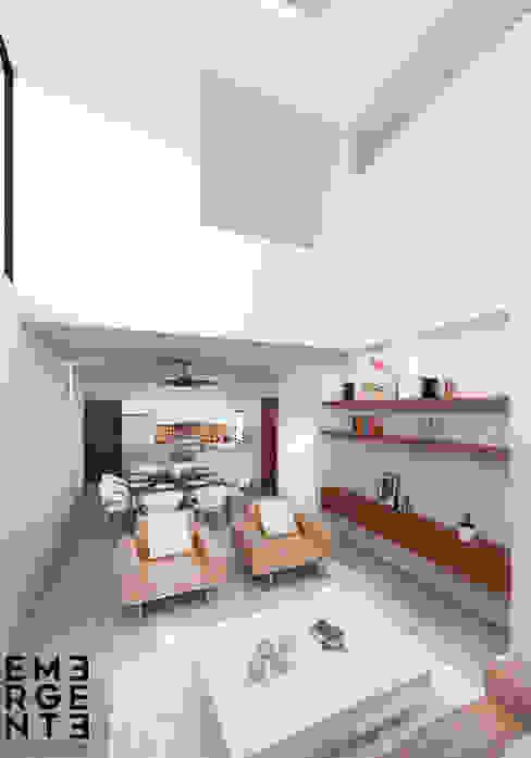 SALA homify Casas minimalistas Concreto Blanco