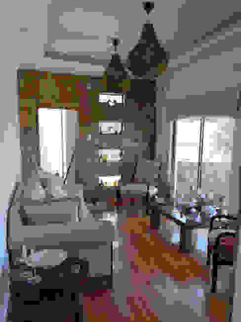Mediterranean style living room by Territorio Arquitectura y Construccion - La Serena Mediterranean